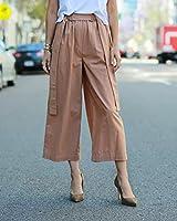 The Drop Pantalón culotte suelto de talle alto en color caramelo para mujer por @paolaalberdi, XXS