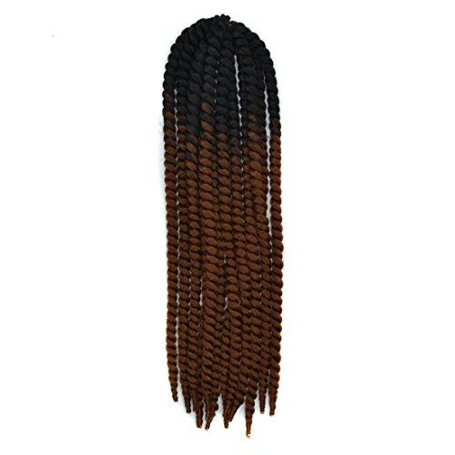 Extensión del cabello Fashian trenzado sintético extensión del pelo teñido gradiente Twist Wigpieces Spring Tweezer peluca extensión 22 pulgadas / 100 g Pelucas de pelo humano