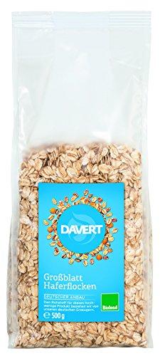Davert Großblatt Haferflocken, Bioland, 6er Pack (6 x 500 g)