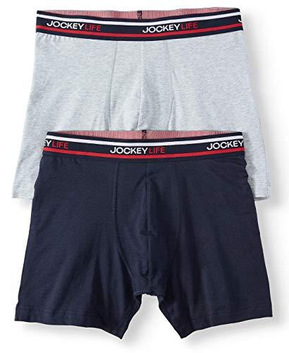 Jockey Life Herren Color Remix Cotton Stretch Boxershorts 2er Pack -  mehrfarbig -  Large