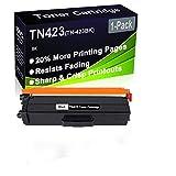 Cartuccia toner compatibile ad alta resa TN423 (TN-423BK), compatibile con stampanti Brother HL-L8360CDW HL-L8260CDW, confezione da 1