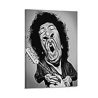 ロックシンガージミヘンドリックスキャンバスアートポスター寝室の装飾絵画家の壁の装飾印刷画像20×30インチ(50×75cm)