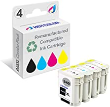 HOTCOLOR Remanufactured Ink Cartridge Replacement for HP 940XL (Black, Cyan, Magenta, Yellow, 4-Pack)