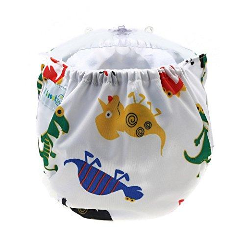 Happy Cherry Pañal de Tela Lavable Reutilizable Ajustable Infantil Diaper para Bebé Niño Niña - Era de Dinosaurios