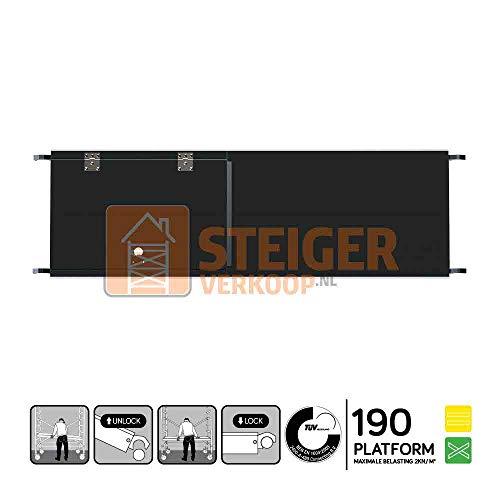 Euroscaffold Steigerverkoop - Rolsteiger platform met luik 190 cm carbon vloer (lichtgewicht)