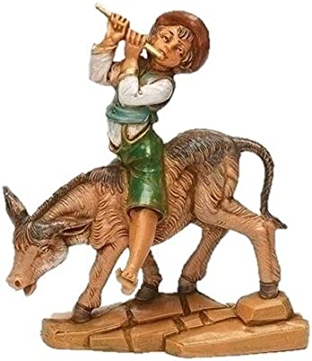 "Fontanini 59808 Dominic Boy with Donkey 5"" Scale Nativity Figurine"