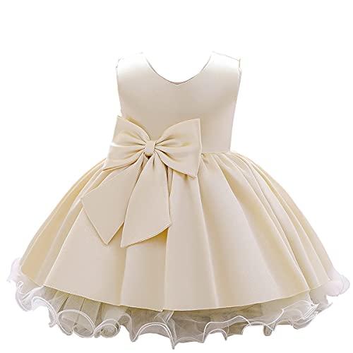 ベビードレス 子供ドレス 入園式ドレス ベビー服 フォーマル 結婚式 お宮参りドレス お誕生日 プレゼント 記念写真 (シャンパン, numeric_height_100)