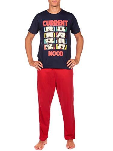 Disney Herren Micky Maus Schlafanzuge Mehrfarbig Size X-Large