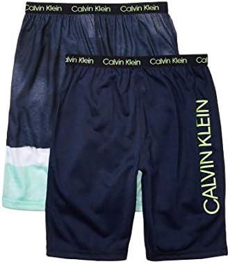 Calvin Klein Boys Lounge Pajama Shorts 2 Pack Dipdye Black Iris X Large 14 16 product image