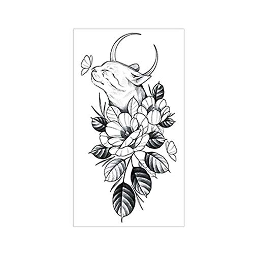 Waterproof Tattoo Sticker Plain Cat Deer Bird Fake Tattoo Fresh Style Temporary Tattoo Fashion Girl Stickers Flower Arm Body Art