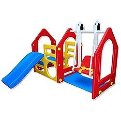 Kinder Spielhaus mit Rutsche und Schaukel