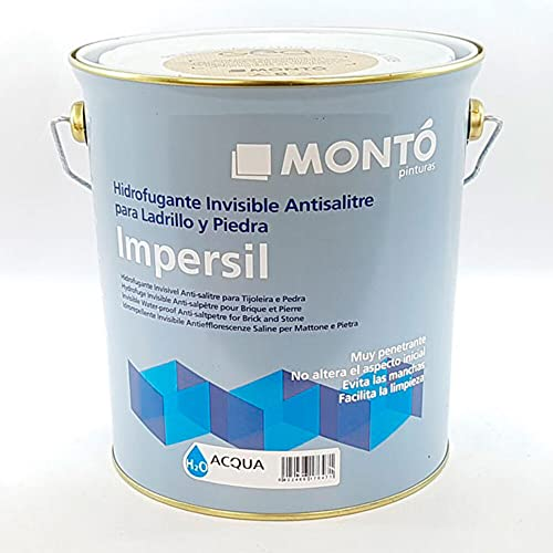 Impermeabilizante para Terraza de Ladrillo y Piedra. Hidrofugante Invisible Al Agua, Transpirable. Impersil Acqua (Transparente 900 15L)