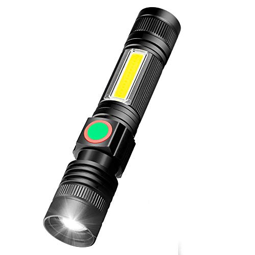 Torch USB Rechargeable Including 18650 Battery - LED Torch Tactical Super Bright Powerful Magnetic...