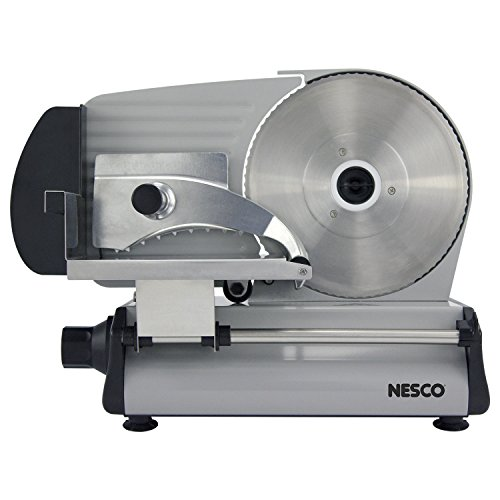 """NESCO , Stainless Steel Food Slicer, Adjustable Thickness, 8.7"""", Silver"""