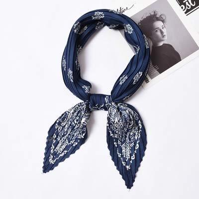 YDMZMS sjaal vierkant opvouwbaar met opdruk haarband haarband van zijde voor dames