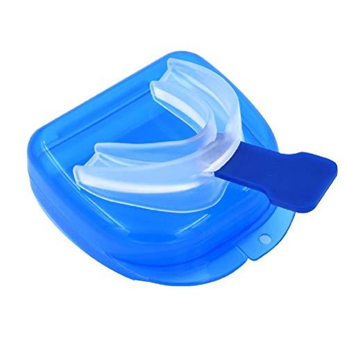 Healifty 2 pezzi Denti Proteggi Denti Bocca Guardia Trasparente Anti Russamento Apnea Notte Morbido