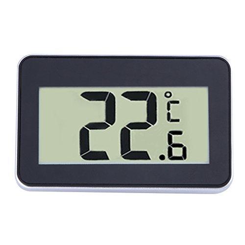 Demiawaking Digital LCD Thermometer Messgerät W/Magnet Haken für Kühlschrank (Schwarz)