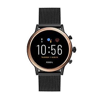 Fossil Gen 5 Julianna HR Heart Rate Stainless Steel Mesh Touchscreen Smartwatch, Color: Rose Gold, Smoke (Model: FTW6036) (B07SW1KK31) | Amazon price tracker / tracking, Amazon price history charts, Amazon price watches, Amazon price drop alerts