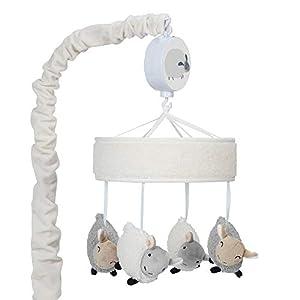 Lambs & Ivy Sleepy Sheep Musical Baby Crib Mobile – Cream/Gray