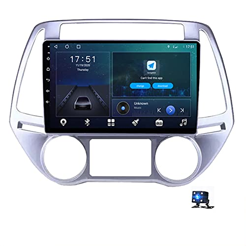 Android 10.0 Car Radio Reproductor De Pantalla Táctil, Para Hyundai i20 Manual AC 2012-2014 Soporte Navegador GPS Bluetooth WIFI Reproductor Multimedia Navegación Estéreo Autorad(Color:4G+WIFI 4G+64G)