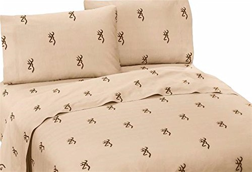 Browning Unisex Buckmark Queen Sheet Set Brown One Size