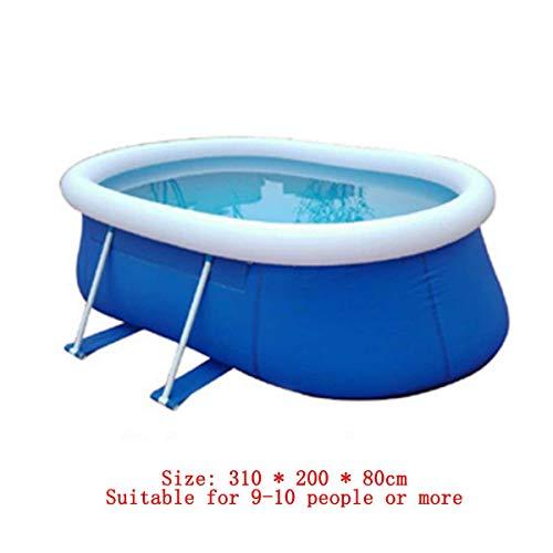 SHARESUN Große Aufblasbare Schwimmbecken, Runde Pool Für Kleinkinder, Kinder, Familien, Above Ground, Hinterhof, Outdoor, Outdoor-Pool,310cm