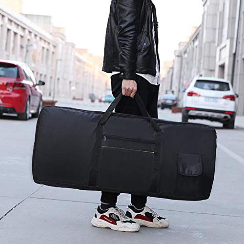 Sac pour clavier, sac rembourré épaissi pour clavier, sac pour clavier 61 touches, étui pour piano électrique, sac pour clavier pour instrument en tissu Oxford 420D, (98 x 41 x 13 pouces)