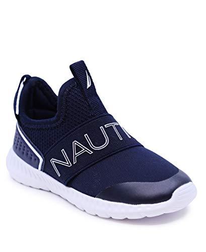 Nautica Kids Fashion Sneaker Slip-On Athletic Running Shoe Boy - Girl Toddler Little Kid-Alois-Navy-7