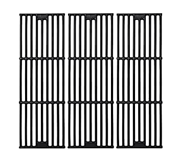 GasSaf 19 3/4 inch Grill Grid Grates Replacement for Chargriller 5050 3001 3008 3030 4000 2121 King Griller 3008 5252 Cast Iron Grill Cooking Grid Grates 19-3/4   x 6-3/4   Each  Set of 3