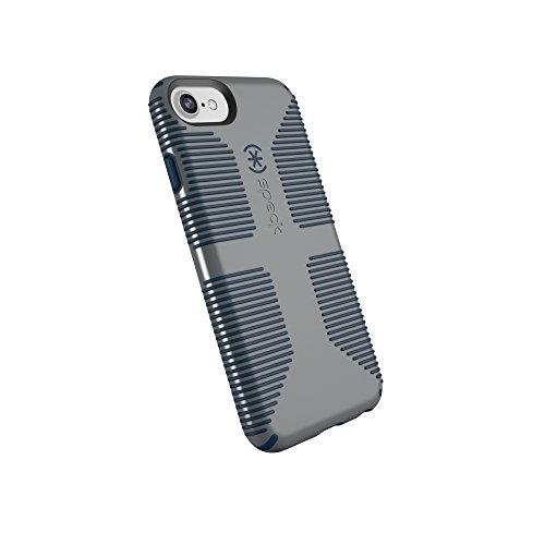 Speck Products CandyShell Grip iPhone SE 2020 Case/iPhone 8/7/6S/6 - Gravel Grey/DEEP Sea Blue - 110203-7294
