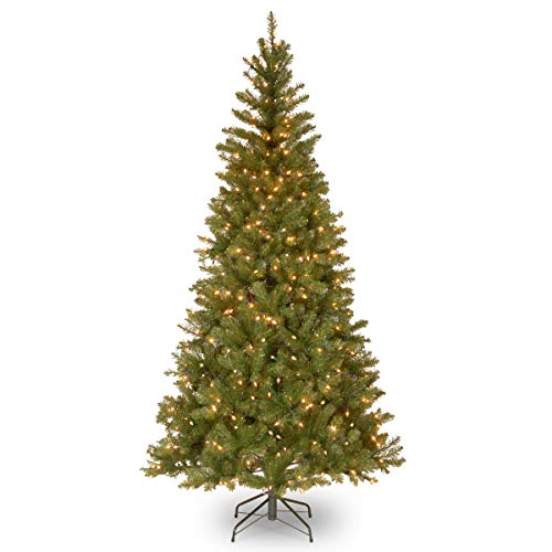 National Tree Company Pre-lit Artificial Christmas Tree | Includes Pre-strung White Lights and Stand | Aspen Spruce - 7 ft