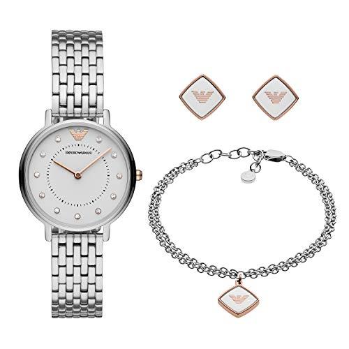 Emporio Armani Womens Analoog Quartz Horloge met RVS Band AR80023