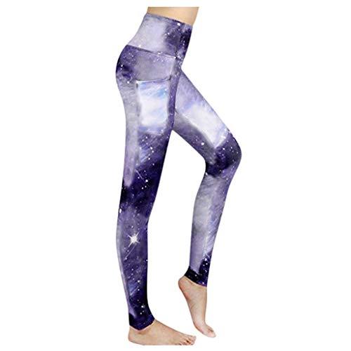 Damen Yoga Hohe Taillen Hosen Damenmode Cosmic Galaxy Leggings Nachthimmel Schlanke Yogahose Mit Tasche