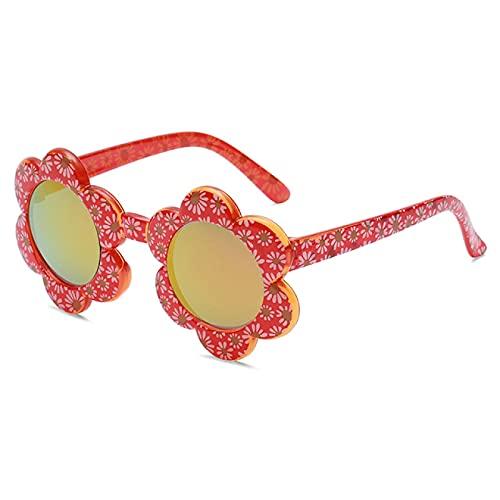 Lsdnlx Gafas de Sol,Dibujos Animados Lovely Kid Flores Coloridas Gafas de Sol Gafas 1 5 años de Edad