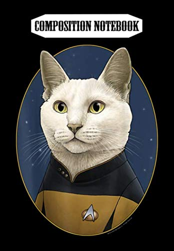 Composition Notebook: Star Trek Data Cat Formation, Journal 6 x 9, 100 Page Blank Lined Paperback Journal/Notebook