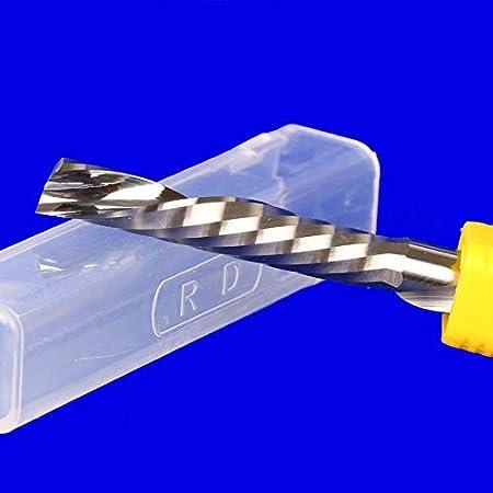 NoLOGO 1pc Izquierda Espiral Fresa de 3,175 mm 4 mm 6 mm 8 mm V/ástago 1 Flauta Router mordi/ó Corte de carburo CNC Molino de Extremo Accesorios for Herramientas tama/ño : 3.175x2x8
