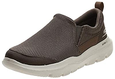 Skechers Men's GO Walk Evolution Ultra-Impeccable Sneaker, Khaki, 9.5