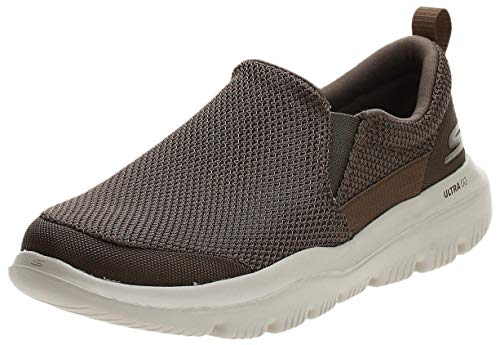 Skechers Men's GO Walk Evolution Ultra-Impeccable Sneaker, Khaki, 11.5 X-Wide