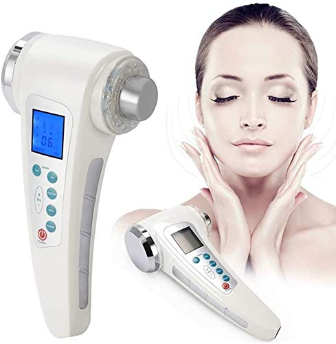 LINWEI Multifunction 4-In-1 Double-Head Skin Rejuvenation Anti-Wrinkle Beauty Instrument,Galvanic Ion Skin Pores Cleaning Device,7-Color LED Skin Lifting Facial