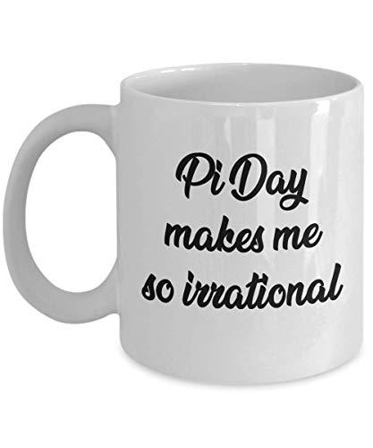N\A Taza del día de Pi - El día de Pi me Hace Sentir así - Regalo para la celebración del día de Pi Taza de café Blanco del Profesor de matemáticas