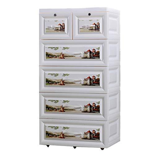 Armoires de Rangement boîte de Rangement Meuble de Rangement pour la Maison Meuble de Rangement pour tiroir de Chevet de Rangement (Size : 50x35x105cm)