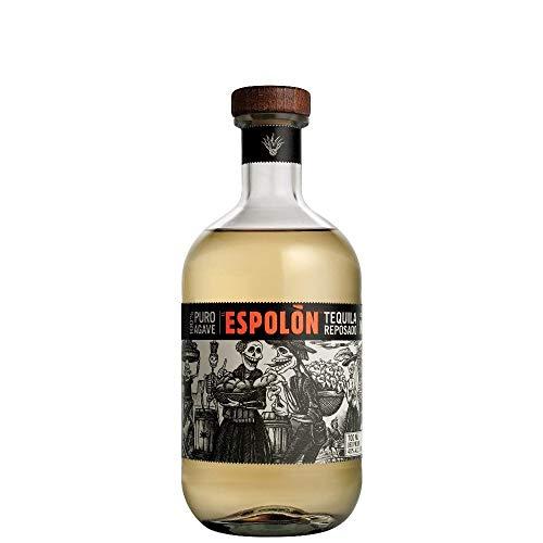Espolon Reposado Tequila 100% Agave Messicana Invecchiata 6 Mesi, con Aromi Speziati di Caramello, Agave e Sentori di Cioccolato, 40% Vol, Bottiglia in Vetro da 70 cl