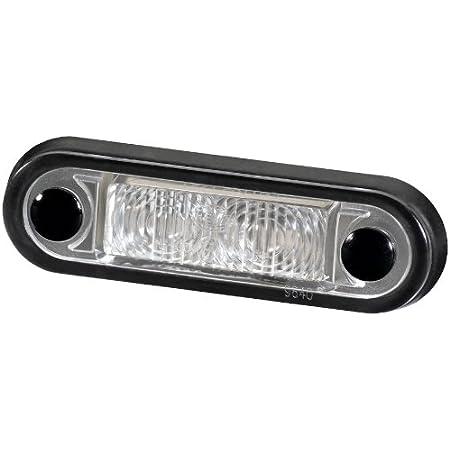 Hella 2ka 959 640 102 Kennzeichenleuchte Led 12v 24v Lichtscheibenfarbe Glasklar Led Lichtfarbe Weiß Anbau Kabel 2500mm Auto