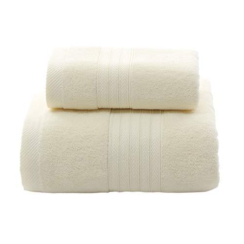 FANLIR Grote badhanddoeken, verpakking van 2, 100% katoen, 70 x 140 cm, hoge absorptie 380 gsm, hotelkwaliteit, zachte handdoeken voor dagelijks gebruik in het huishouden wit