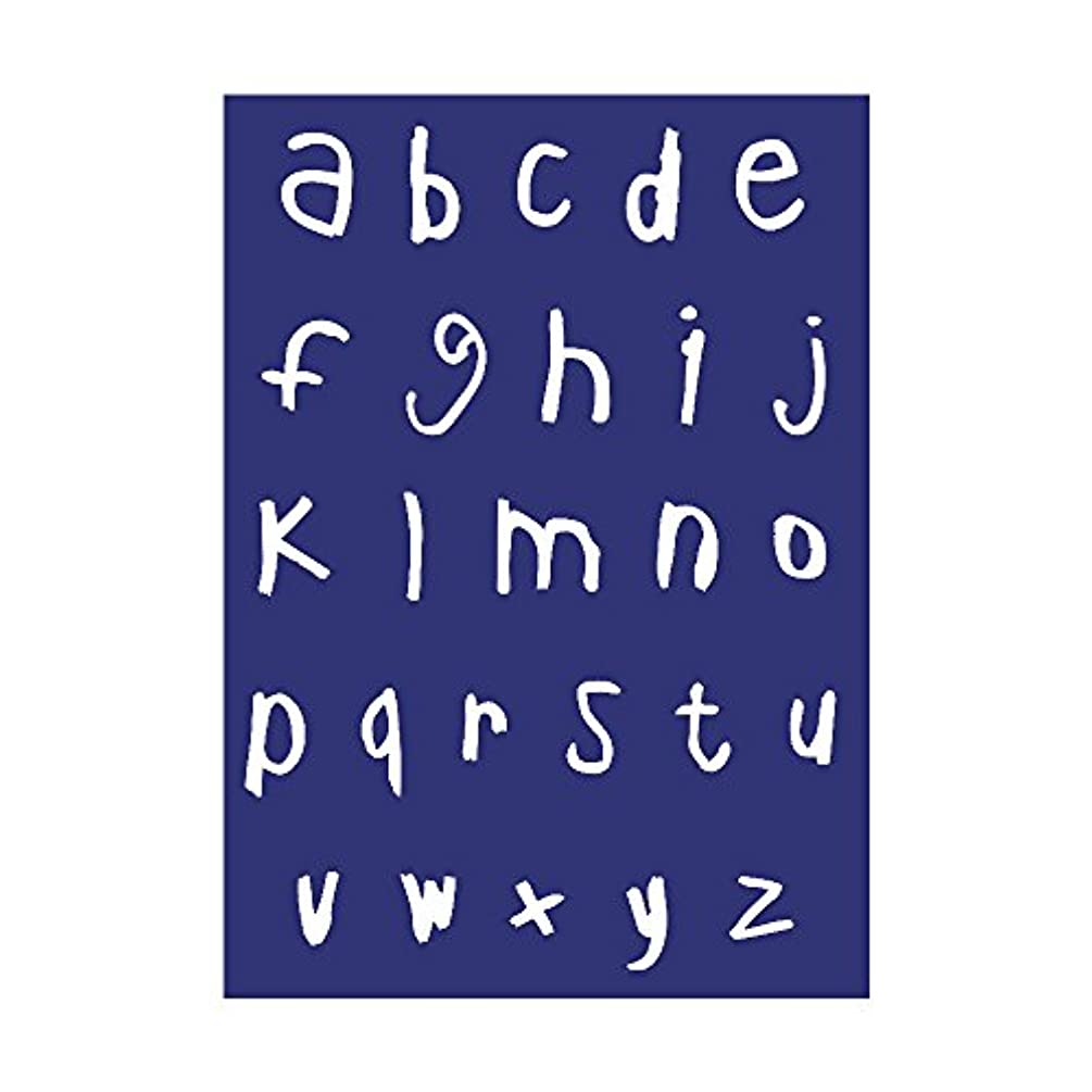 Rayher Alphabet Small Letters Stencil, Polyester, Blue, 34 x 21.9 x 0.2 cm