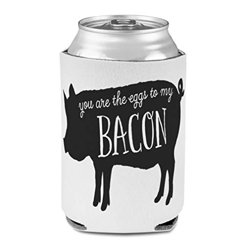 Koozies for Cans Drink Cooler You Are The Eggs to My Bacon Animals 1 Pig Scuba Foam Party Beer Cover