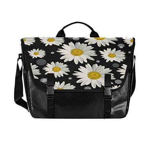 Schultertasche für Damen und Herren, aus Segeltuch, Blumenmotiv, Retro-Stil, für...