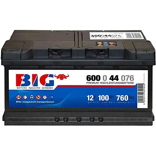 Preisvergleich Produktbild BIG Autobatterie 12V 100Ah Starterbatterie 60044 ersetzt 85Ah 88Ah 92Ah 95Ah
