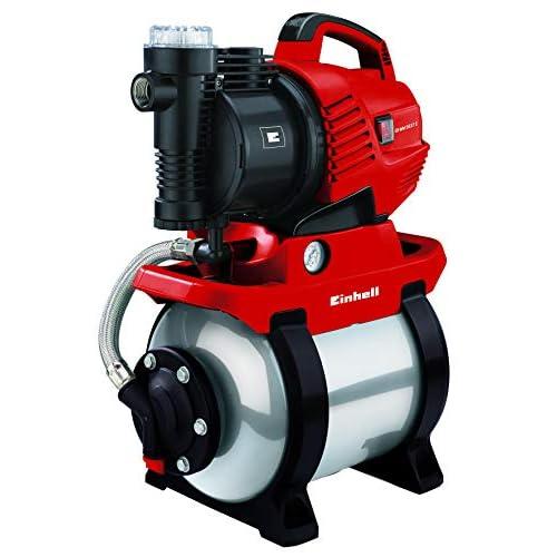 Einhell GE-WW 5537 E, 590 W, pressione 3.8 bar, portata 3.750 l/h, potenza ECO, prefiltro, valvola di non ritorno, recipiente a pressione da 20 litri