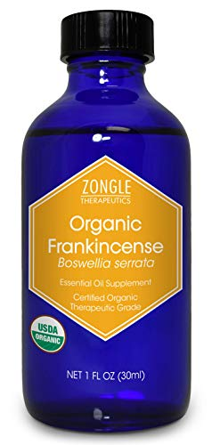 Zongle Usda Certified Organic Frankincense Essential Oil, Safe To Ingest, Boswellia Serrata, 1 Oz